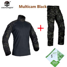 Hunting airsoft  paintball combat tactical military BDU Emersongear G3 Multicam black uniform shirt & Pants  MCBK