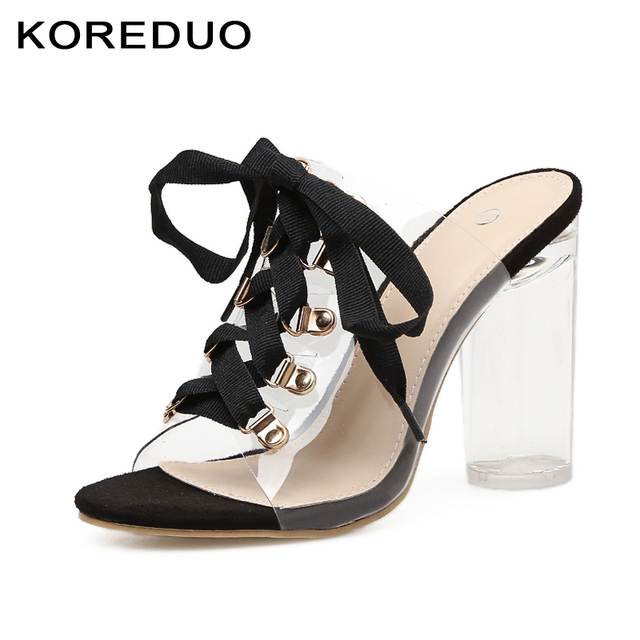 KOREDUO 2018 New Summer Shoes Flat Heels Mules Slippers
