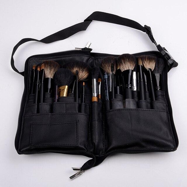 Черный 32 Кармана макияж кисточки держатель Чехол сумка молния художник ремень косметический кисточки макияж расчёски для волос PU держатель фартук сумки
