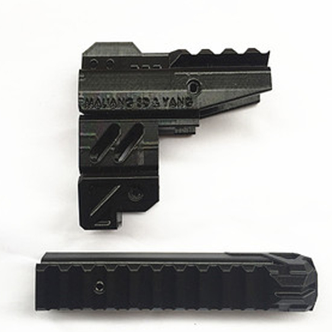 купить Maliang 3D Printing Modified HS-04 Front Tube and Top Rail Kit for Nerf Zombie Strike Hammershot Blaster по цене 1308.27 рублей