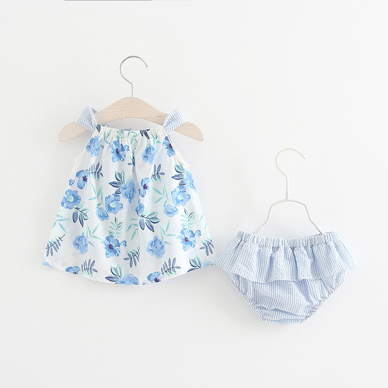 Baby Dresses 0-3Y Girls Summer Floral Clothes Sets Party Birthday Outfits Baby Girls Clothing Dress+Casual Pant 2Pcs for Baby