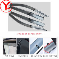 2017 wind deflector For Volkswagen New Tiguan L 2017 2018 exterior side window deflectors car accessories for tiguan 2018 YCSUNZ