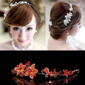 New High-quality Handmade Headdress with Pearls Wedding Accessories Flower Bride Pearl Lace Hair dinner Party for women H0041