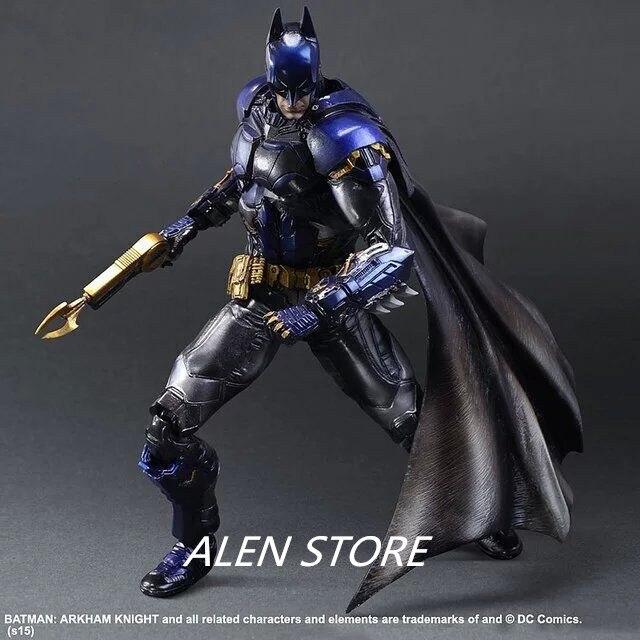ALEN Action Figure Superhero Arkham Knight Batman PVC Anime Play Arts PlayArts Kai DC 28cm Toys gift Cartoon Collectible Model playarts kai star wars stormtrooper pvc action figure collectible model toy