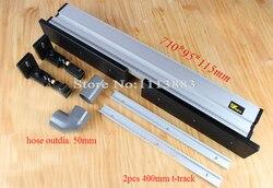 Valla de enrutador de alta resistencia + 3 uds t-tracks + soporte para arreglar paneles de plumas, actualizado con conexión de puerto de polvo