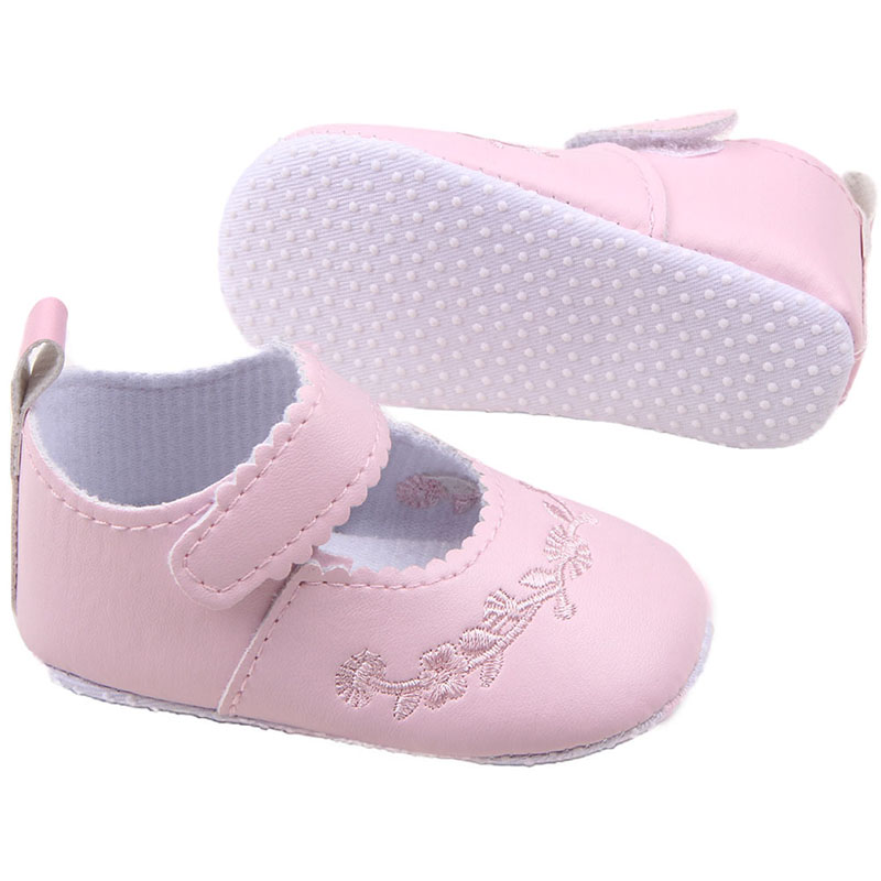New First Walkers Kid Girl Pu Leather Princess Crib Shoes Newborn Comfy Outdoor Baby Shoes 0-1 Years