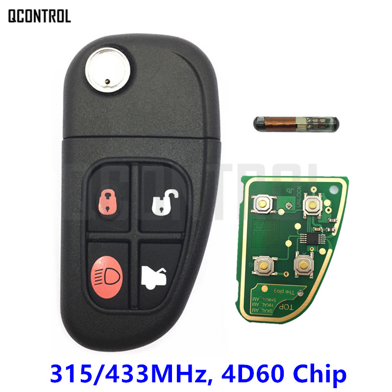 Qcontrol 4 Пуговицы удаленный ключевой для Jaguar X-Тип S-Тип XJ XK Тип 315 мГц/433 мГц  ...