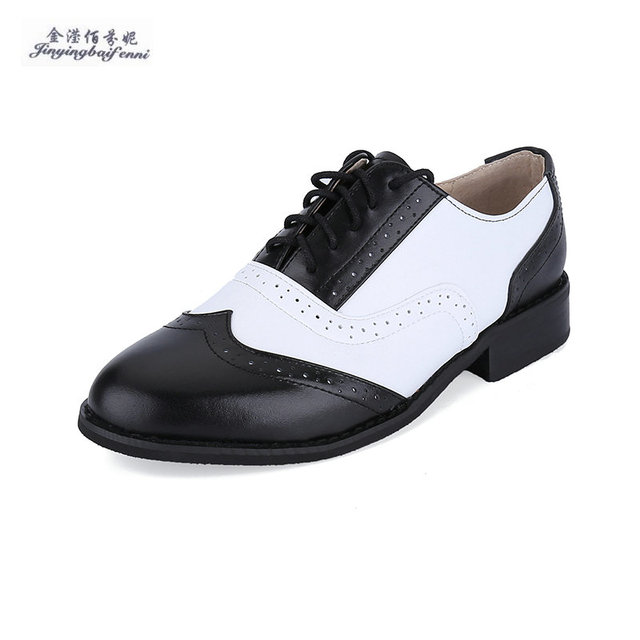 478c27ca7dd391 Genuine Leather Black white oxford shoes for men lace-up mens dress shoes  size 12 brand mens leather brogue shoes Moccasins