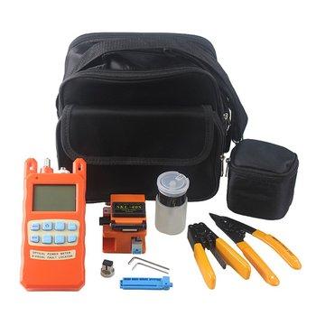 Kit de herramienta de fibra óptica FTTH cuchilla de fibra + medidor de potencia óptica Tester 1 MW Visual Fault Locator + Fiber Stripper SKL-60S