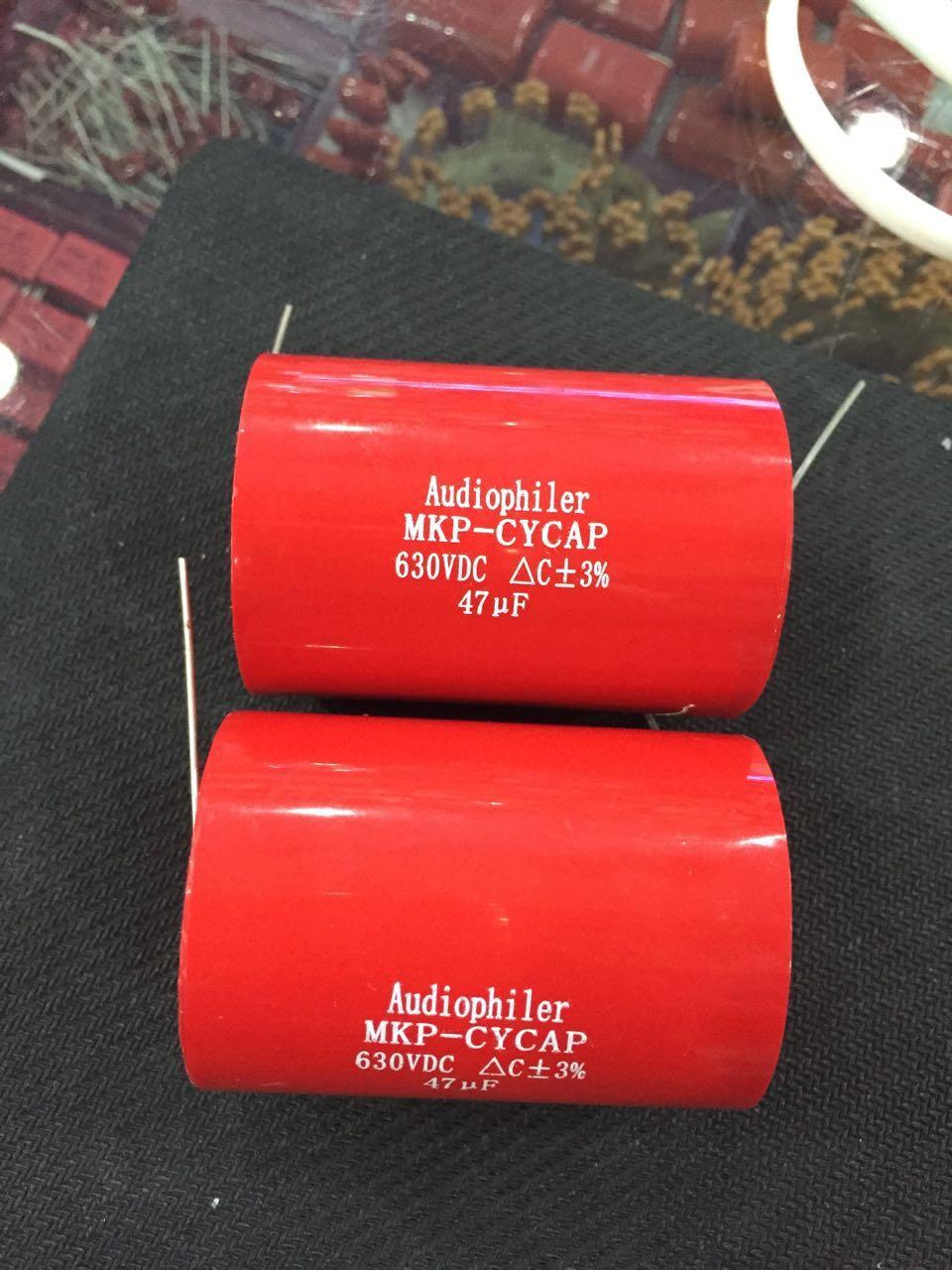 Free Shipping Audiophiler Axial MKP 47UF 630VDC HIFI DIY audio grade capacitor for tube guitar amps 1