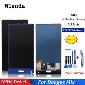 Image 1 - Czarny/niebieski dla 5.5 cal Doogee mix wyświetlacz LCD + ekran dotykowy Digitizer części zamienne do montażu 100% oryginalny nowy