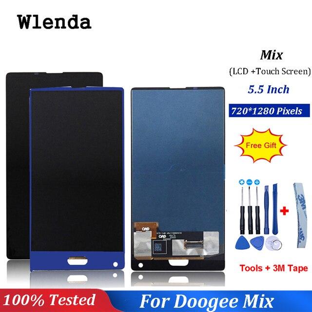 Czarny/niebieski dla 5.5 cal Doogee mix wyświetlacz LCD + ekran dotykowy Digitizer części zamienne do montażu 100% oryginalny nowy