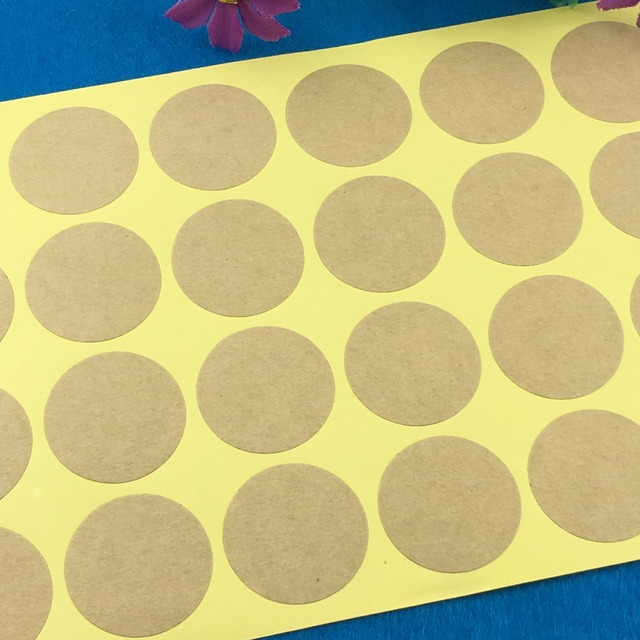 1200pcs lot 3cm round kraft blank sticker labels kraft paper stickers labels diy hand made