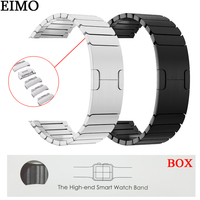 EIMO Strap for Apple Watch Band 42mm 44mm iwatch 4 3 2 1 40mm 38mm Stainless Steel Link Bracelet Wrist Watchband Removable Bands