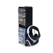 Dual Ultra Large Capacity Game Disk Tower Vertical Stand Kit Compatible for XBOX ONE S /PS VR/PS4 Slim/PS4 PRO Bracket Holder