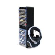 Suporte vertical duplo ultra grande capacidade jogo torre de disco, compatível com xbox one s/ps vr/suporte de suporte para ps4 slim/ps4 pro,