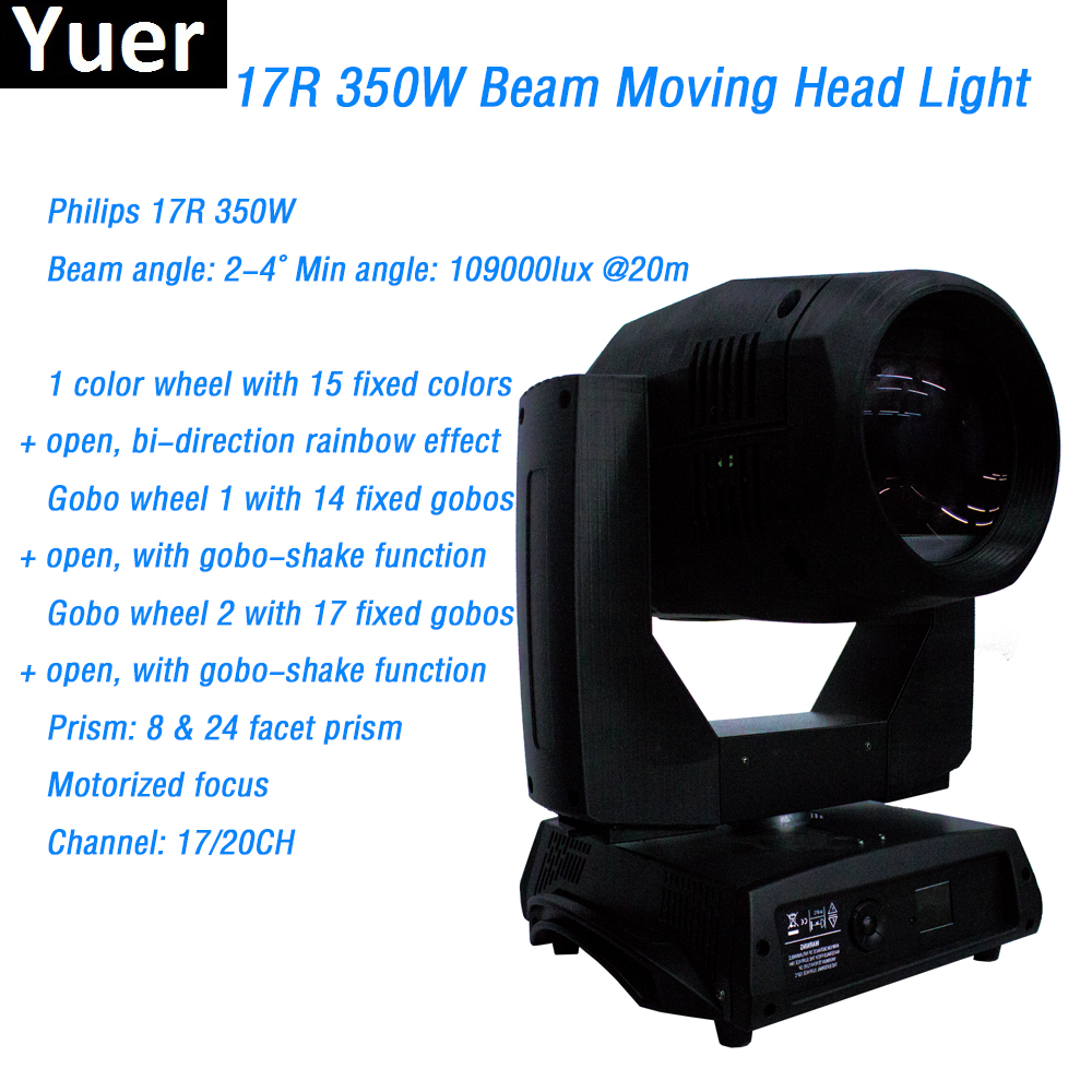 Free Shipping 17R 350W Moving Head Beam Stage light 2-4 Degree beam angle 8 & 24 Facet Frism DMX512 17/20 Channels for DJ Disco
