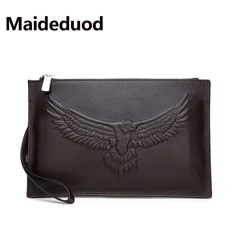 Maideduod Brand Cowhide Men Clutch Wallets Genuine Leather Long Purses Business Large Capacity Wallet Zipper Phone Bag For Male 2015 famous brand mens genuine leather business wallet man male multifunction large capacity clutch bag handbag wallet purses