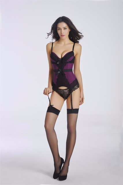 601b408150 Women s Fashion Valentine s Day Bustier Sexy Waist Cincher Lace Mesh Push  Up Boned Corset Bustier Lingerie