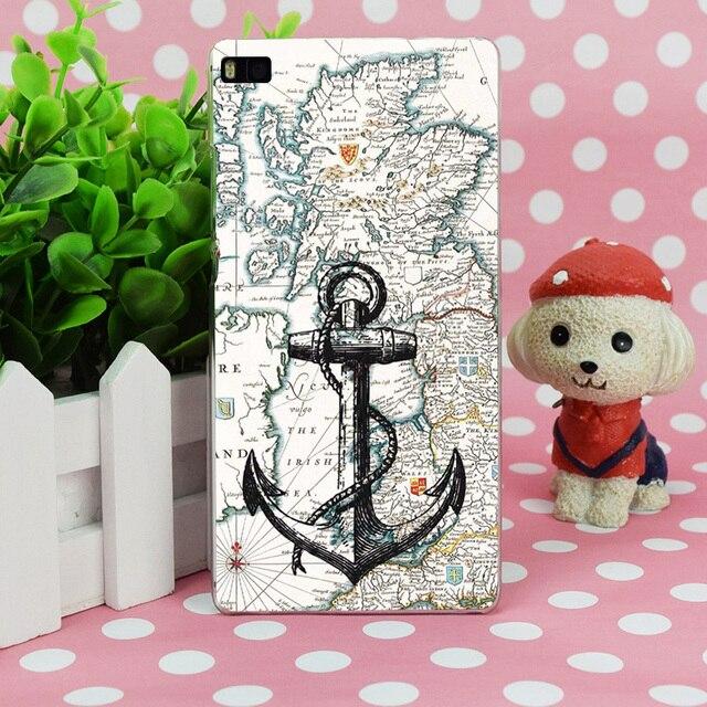 B2631 Nautical Tumblr Anchor Il Transparent Hard Thin Case Skin Cover For Huawei P 6 7