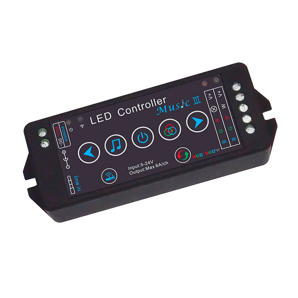 2018 LED RGB Strip Music Controller DC5-24V Smartphone APP WIFI Control 3 Modes To Control for IOS Android Music 3 Led Controlle image