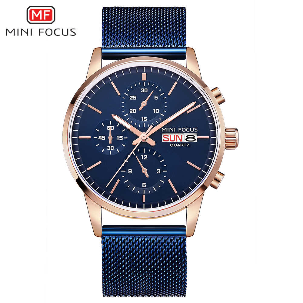 MINIFOCUS montre-bracelet hommes Top marque de luxe célèbre homme horloge Quartz montre-bracelet Quartz-montre Relogio Masculino MF0180G. 05