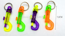 4X 72mm Plastic SWIVEL CLIP SNAP Hook E132/E107 TRIGGER Key chain Boys Girls Kids Birthday Party Favour Gift Pinata Bags Filler