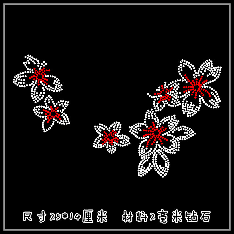 Detail Feedback Questions about Clear Crystal plum blossom T shirt neckline  DIY strass hotfix Rhinestone applique Pattern motif Iron On Heat transfer  ... 13ecea800683