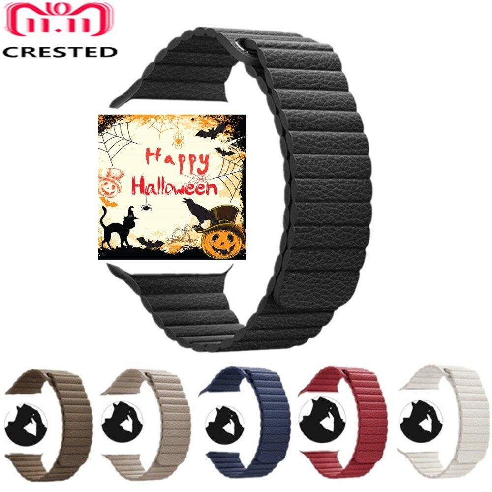 CRESTED Leder Schleife Für Apple Uhr band 42mm/38mm band correa iwatch serie 4 3 2 1 44mm/40mm handgelenk armband armband gürtel