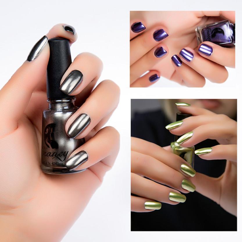 1PCS 7ML Mirror Effect Nail Polish Foil Nails Art Glitter Metal ...