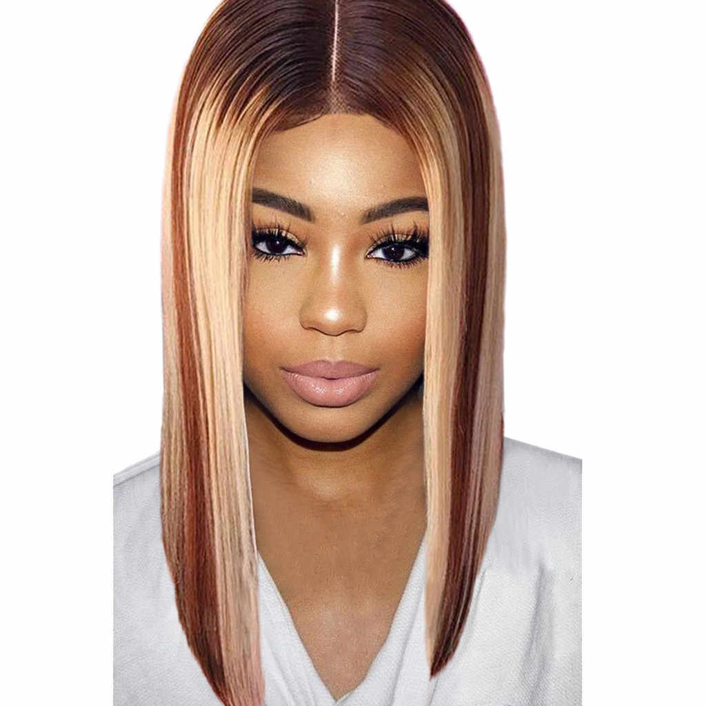 c851e9dee0b Wholesale Natural Mix Colors Gradient Long Curly Synthetic Wig Full Lace  Wig Front Wig lace front wig#25 Dropping
