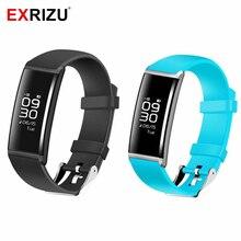 Exrizu Bluetooth Smart Браслет Сенсорный экран сердечного ритма крови и Давление монитор Фитнес браслет шагомер Водонепроницаемый