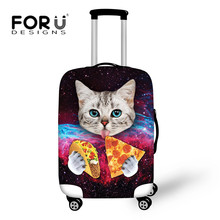 Forudesigns tumblr Стиль Galaxy Cat Пиза принт Чемодан чемодан Крышка обрастания эластичная Чемодан пыли Туристические товары