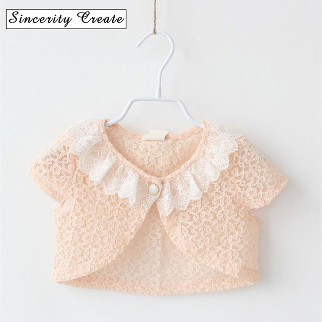 23ade69d6 Fashion lace baby dress shawl Summer baby girls Short Sleeve shawls ...