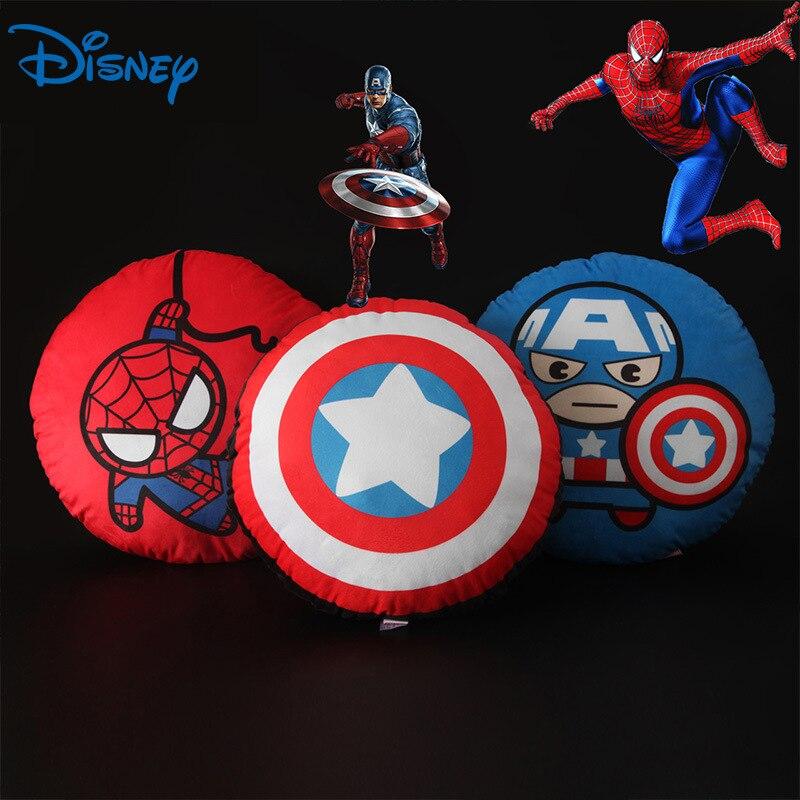 Disney Marvel Avengers Round Anime Sofa Pillow Car Sleeping Cushion Custom Funny Funny Pillow sofa cushion halloween night ghost printed pillow case