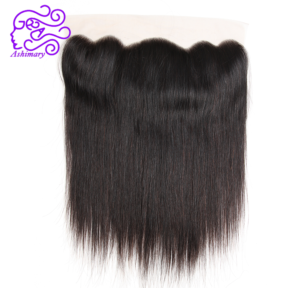 Ashimary Malaysian Straight Hair Lace Frontal Closure 13*4 Ear to Ear Remy Hair Closure Can Be Dyed and Bleached Free Shipping