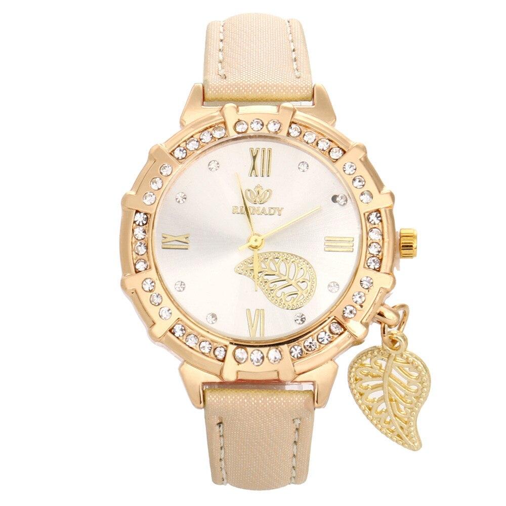 # 5001New femmes Quartz poignet feuilles tour strass pendentif montre-bracelet reloj mujer nouveauté livraison gratuite offres spéciales