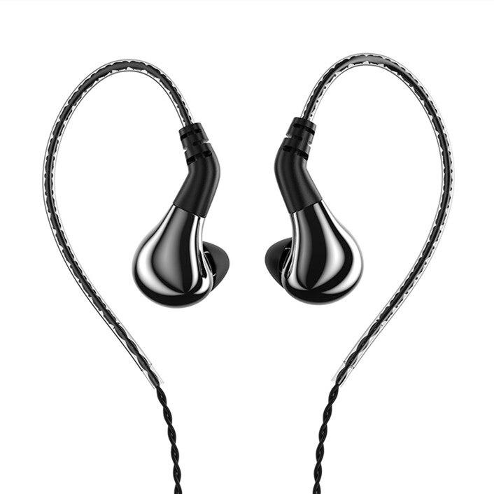 Novo blon BL-03 bl03 10mm diafragma de carbono driver dinâmico no ouvido fone alta fidelidade dj correndo fone de ouvido destacável cabo 2pin