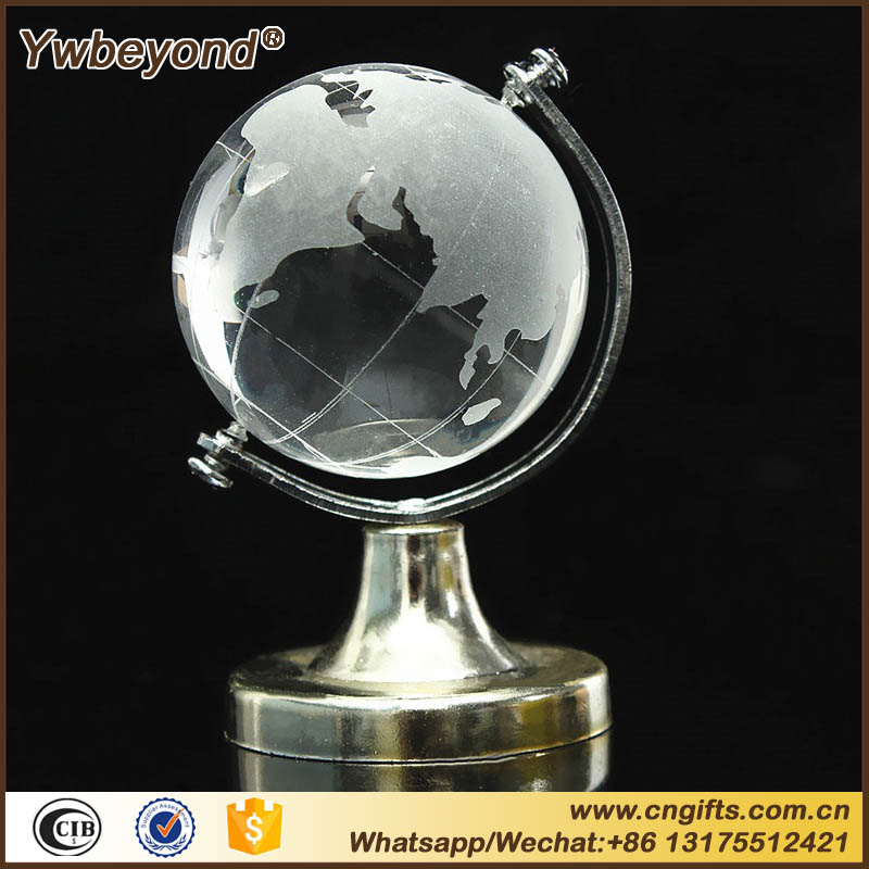 50pcs/lot Crystal Glass Clear Desk Decor Tellurion Ornaments Gifts crystal glass earth globe Wedding Souvenirs Gifts