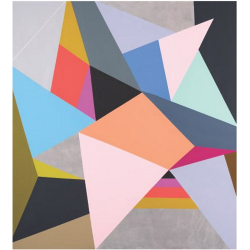 Buy hand painted modern abstract Painting geometric patterns on walls
