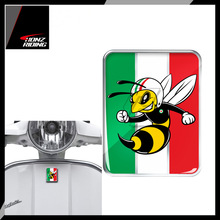 For Vespa Logo Decal Front Badge Overlay Italian Flag Mio Wasp 3D Decals Sticker GTS GT ET PX