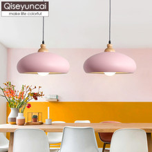 Qiseyuncai Nordic modern restaurant single head chandelier simple iron art creative personality cafe bar bedroom lamp