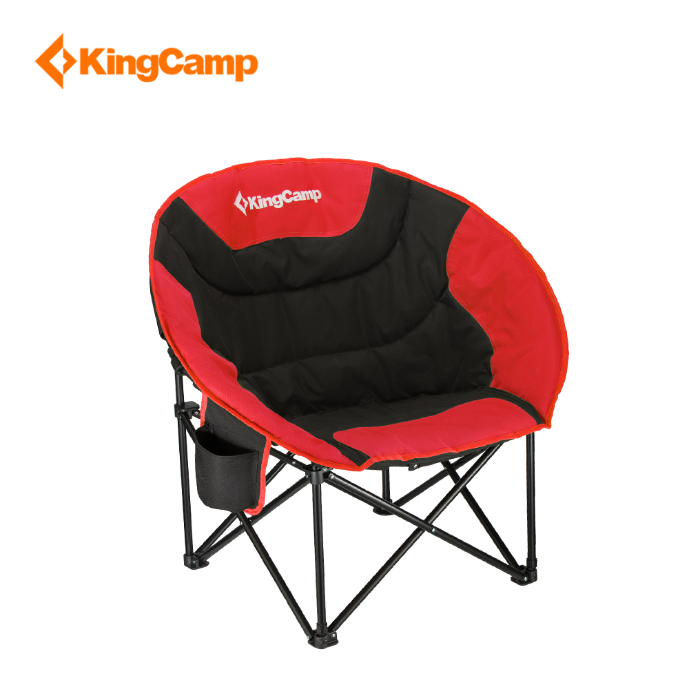 KingCamp Portable Lightweight Folding Chair Stool Fishing with mesh cup holder for Camping Hiking Carry Bag Included Camping kingcamp compact chair l
