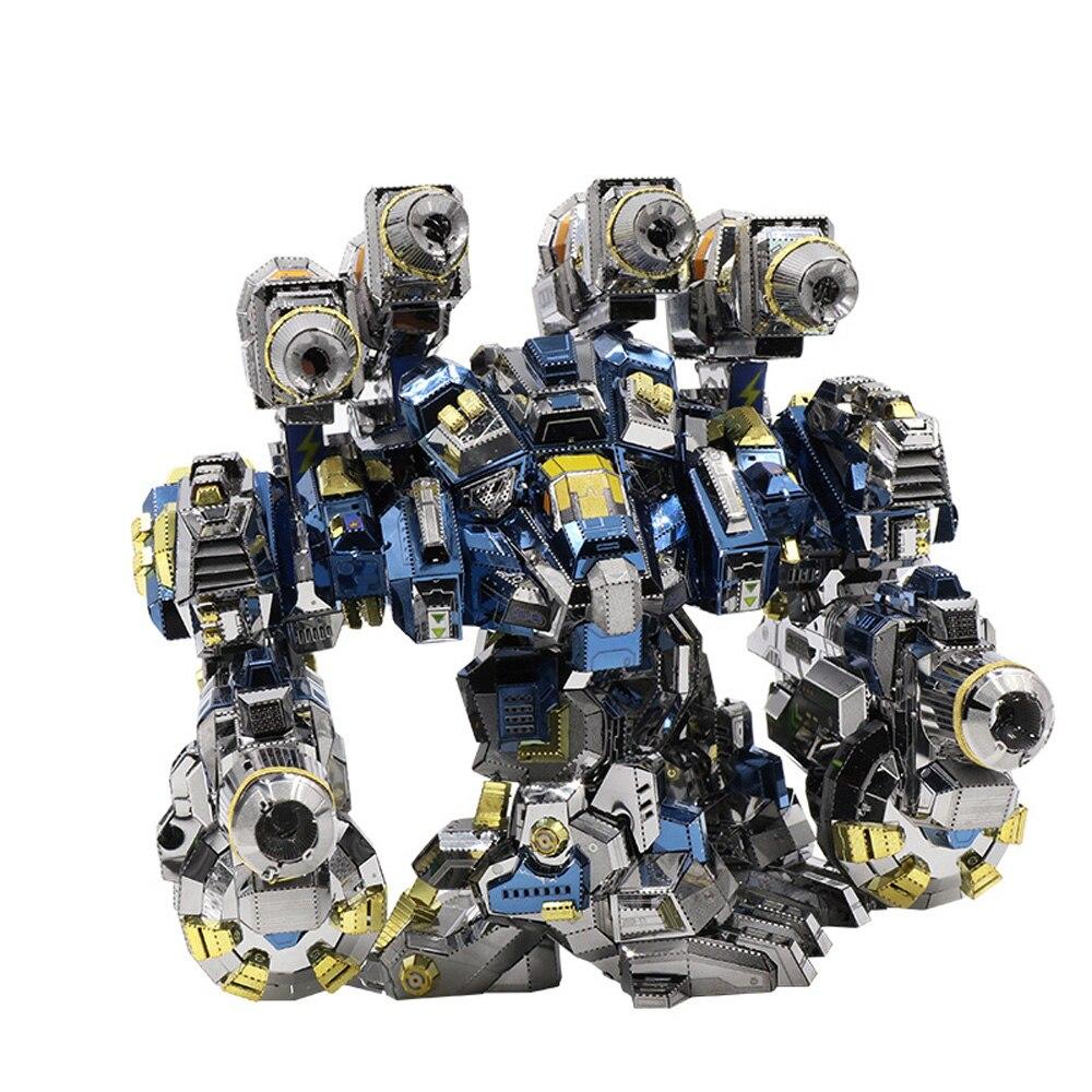 مو بدء الحرفية 2 ثور أودين درع DIY 3D لغز معدني تجميع نموذج أطقم الليزر قطع بانوراما لعب YM N020-في مجموعات البناء النموذجي من الألعاب والهوايات على  مجموعة 1