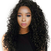 Deep Wave 360 Lace Frontal Human Hair Wigs For Black Women Pre Plucked Brazilian Remy Lace