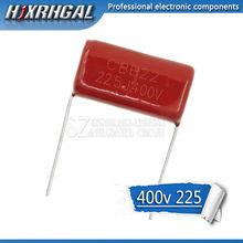 Condensador de película de polipropileno, 400V225J, 2,2 UF, 20M, 225J400V, 225 V, 2200PF, CBB, 10 Uds.