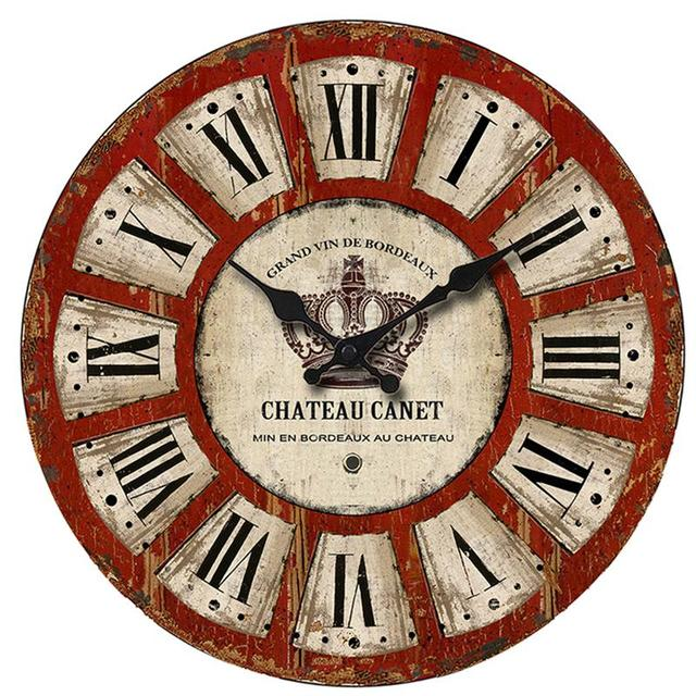 Decorative Vintage Clock Silent Round Wall Clock Non Ticking For Living  Room Kitchen Bathroom Bedroom (