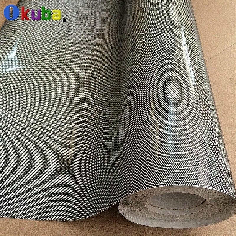 High-Quality-One-Way-Vision-Car-Tint-Film-Perforated-Mesh-Film-Black-Fly-Eye-Tint-FedEx-Free-shipping-2