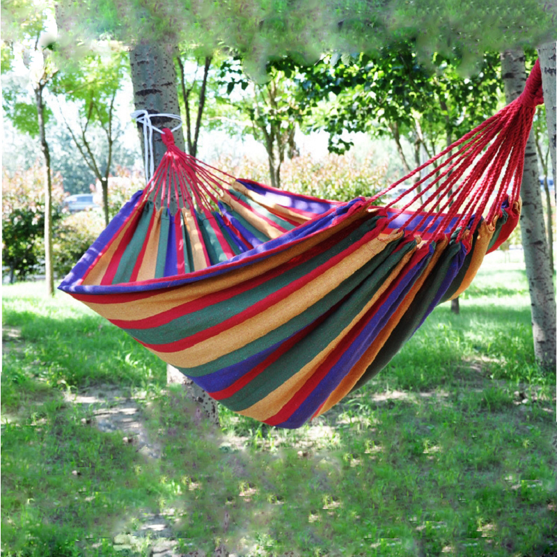 Portable Outdoor Hammock Garden Sports Home Travel Camping Swing Canvas  Stripe Hang Bed Hammock Red 280 X 80cm In Hammocks From Furniture On  Aliexpress.com ...