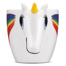 350ML 3D Color Changing Ceramic cup Temperature Unicorn Coffee Tea Milk Hot Water Cup Drinkware Colour Novetly Christmas Gift